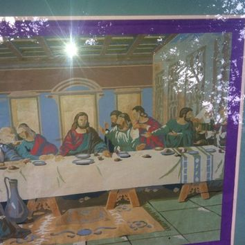 Paint By Number PBN JESUS The LAST SUPPER Painting