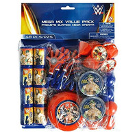 Amscan Grand Slammin' WWE Birthday Party Favors Mega Mix Value Pack (48 Pack), 1.2 oz, Multicolor