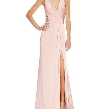 Faviana CoutureFaille Satin Draped Gown