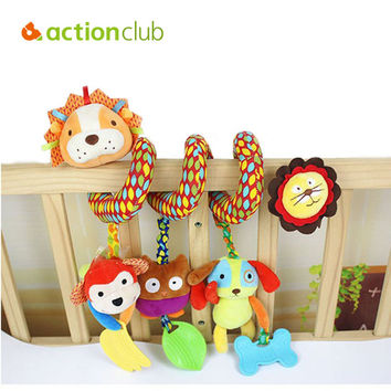 0-12 Months Baby Toys Educational Mobile Toys For Kids Newborn Baby Cot Beds Rattle Hands Eyes Training Stroller Toys HK1119
