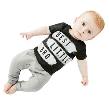 Toddler & Baby Boy Best Little Bro 2pc. Outfit