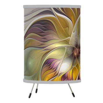 Abstract Colorful Fantasy Flower Modern Fractal Tripod Lamp