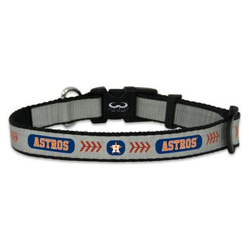XSmall Gamewear Reflective Pet Collar Houston Astros
