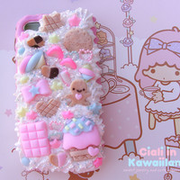 Decoden cover with fake whipped cream for ALL mobile phone