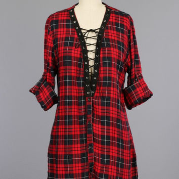 Lilly Plaid Tunic Dress (more colors)