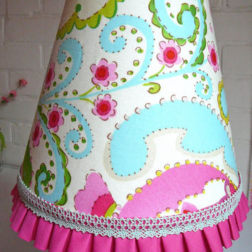 Kumari Garden Lampshade - Kumari Garden Lamp Shade - Kumari Garden Nursery - Teja Fabric Lamp - Little Girls Lamp