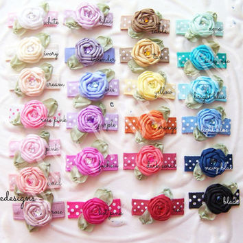 Baby Bow Snap Clips / Itty Bitty Newborn Clips / Infant Clips / Toddler Girls Bows / No Slip Hair Clip Barrettes / PIPPA Satin Flower U PICK