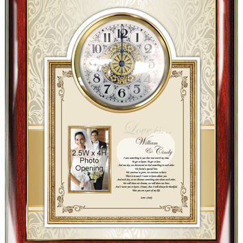 Love Poetry Gift Clock Picture Frame