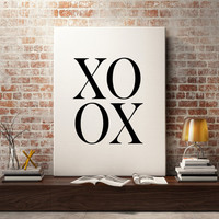 XOXO Fashion Print, Bathroom art print, wall art quote, printable quotes, typographic print