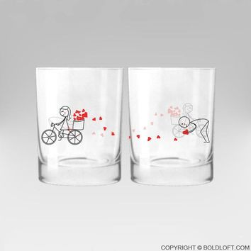 All My Love for You™ His and Hers Couple Drinking Glasses-Couples Gift, Couples Matching Gifts, Valentines Day Gifts for Him, Gifts for Him, Boyfriend Gift, Husband Gift, Anniversary Gift, Wedding Gift