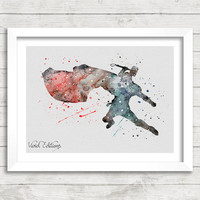 Thor Watercolor Art Poster Print, Marvel SuperHero, Wall Art, Home Decor, Boy's Gift, Not Framed, Buy 2 Get 1 Free! [No. 111]