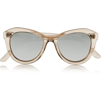 Le Specs - Peach Pit cat-eye acetate sunglasses