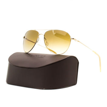 Oliver Peoples 1002S Bendedict Aviator Sunglasses 4129 Gold / Amber Photochromic