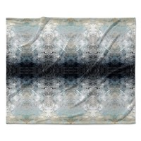 "Pia Schneider ""Heavenly Abstraction l"" Blue Digital Fleece Throw Blanket"