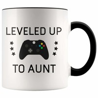 Everything you wanted and more - Personalized New Aunt Gift: Leveled Up To Aunt Coffee Mug