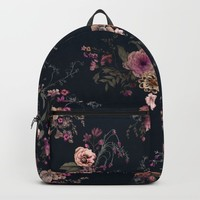 Japanese Boho Floral Backpack by caseysaccomanno