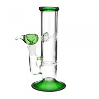 "9.5"" Honeycomb Water Pipe Green USA Made 18mm"