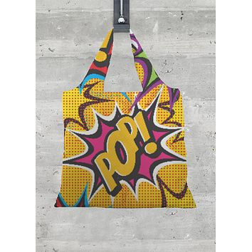 COMIC POP ART FOLD TOTE