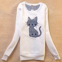Plus Size Pullover Winter Korean Sports Tops Cartoons Stylish Hoodies [9036924556]