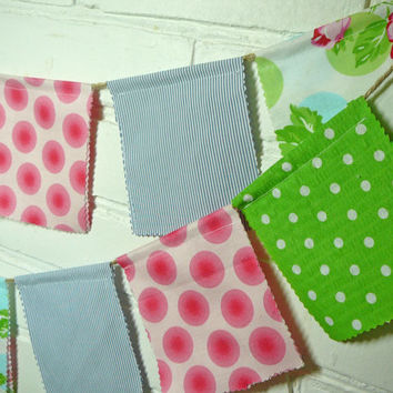 Prayer Flags - Fabric Bunting - Fabric Banner -  Photo Prop Flags - Fabric Flags - Prayer Flag Banner