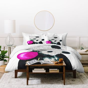 Coco de Paris Panda with bubblegum Duvet Cover
