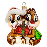 Chip 'n Dale Glass Ornament | Disney Store