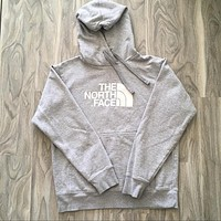 The north face gray hoodie