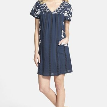 Women's Lucky Brand Embroidered Shift Dress,