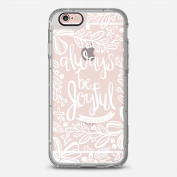 Latest Fashion Tech iPhone Case by Casetify | Always Be Joyful Design by French Press Mornings (iPhone 6, 6s, 6 Plus, 6s Plus, 7)