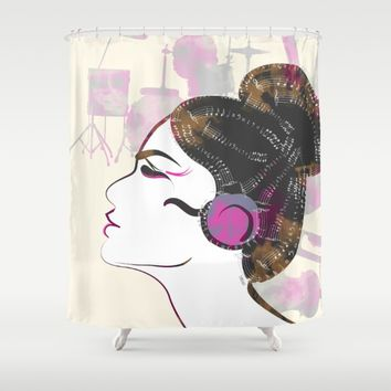 Music Overdose Shower Curtain by Famenxt | Society6