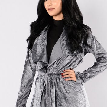 Sweet Whisper Duster Jacket - Grey
