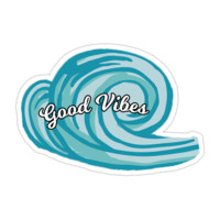 Good Vibes Wave Sticker