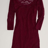 AEO Women's Open Knit Sweater Dress