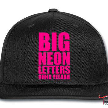 Big Neon Letters Snapback
