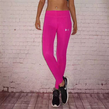 Under Armour Solid Color Gym Sports Yoga Running Leggings Pants Trousers Sweatpants