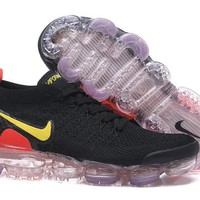 DCCK2 N332 Nike Air Vapormax Flyknit 2 Casual Running Shoes Black Red Yellow