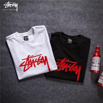 2018 Stussy Women Men Fashion Casual Shirt Top Tee -2
