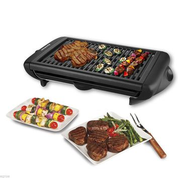 Portable Non Stick Electric Indoor Smokeless Grill