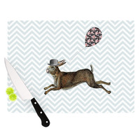 "Suzanne Carter ""Hare Today"" Rabbit Cutting Board"