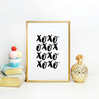Nursery Girls,Xoxo Gold,Xoxo Print,Love Sign,Love Quote,GOSSIP GIRL,OXO,Gift For Her,Girly Print,Girls Room Decor,Girls Bedroom Decor
