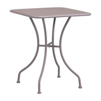 Oz Dining Square Table Taupe Electro & Powder Coated Metal