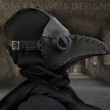 "Plague Doctor mask in Black ""Krankheit"""