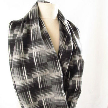 Christmas gift -Plaid scarf/ Men Infinity scarf,Loop scarf / Circle Scarf Gift Scarves-asuhan
