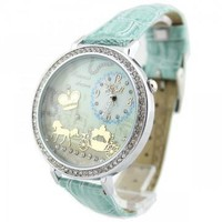 Mint Green Polymer Clay Carriage Watch