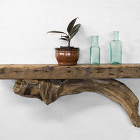 Reclaimed Wood Shelf - Driftwood Shelf - Rustic Shelf - Driftwood Beach Decor - Rustic - Nautical Decor - Beach Home - Unique Wood Shelf