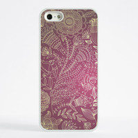 iPhone 6 Case, iPhone 6 Plus Case, iPhone 5S Case, iPhone 5 Case, iPhone 5C Case, iPhone 4S Case, iPhone 4 Case - Magenta Flowers and Birds