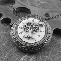Tree of Time Locket Necklace  Deluxe Tree of by COGnitivecreations