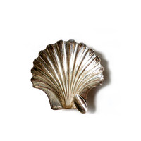 "Vintage Silver Sterling Ash Trays ""SHELL"" ."