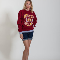 Vintage Boston College Crew Neck Sweatshirt - Size M