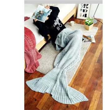 Knitted sofa Handmade Crochet / Mermaid Blanket queen Gift